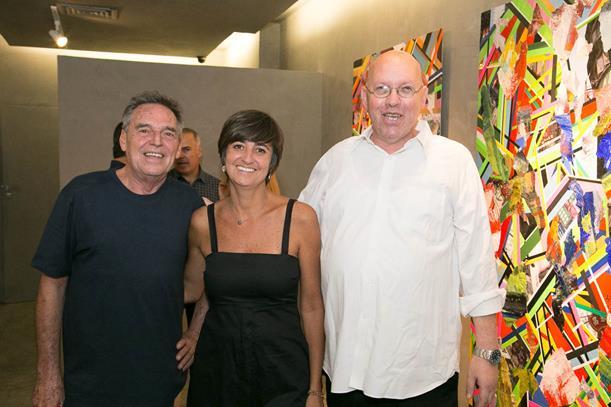 Marcela Gontijo entre Xico Chaves e Augusto Herkenhoff