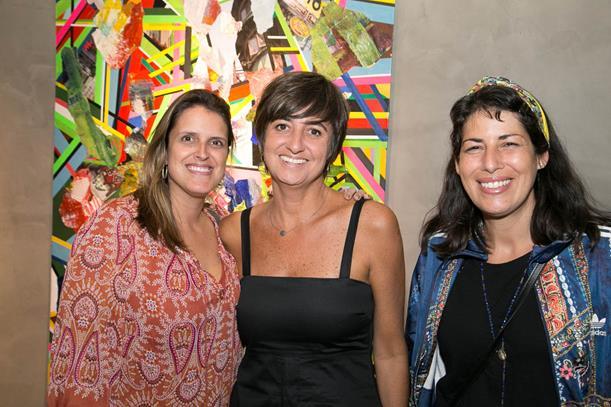 Marcela Gontijo entre Rita Capeli e Adriana Gonçalves
