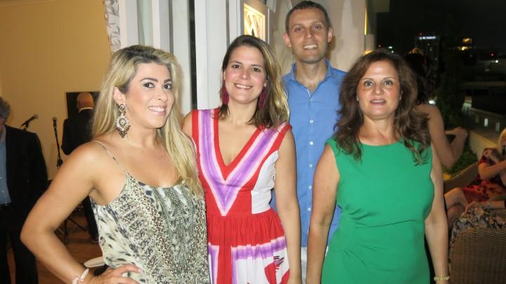 Claudia Martinez, Paloma Danemberg, Tiago Alves e Katia Danemberg