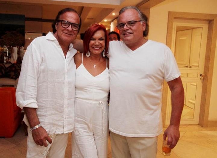 Dudu Gomes, Carmem Dalessio e Helcius Pitanguy