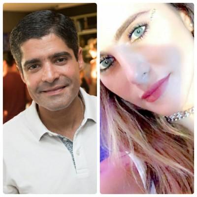 ACM Neto muito bem acompanhado no Rio com Wanda Grandi no Esch Café