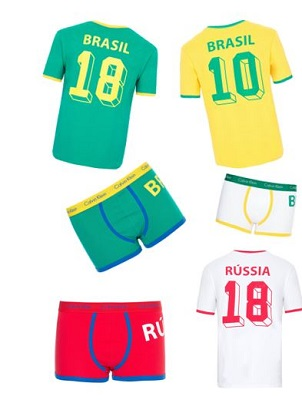 Calvin Klein Underwear lança homenagem a Copa do Mundo da Russia