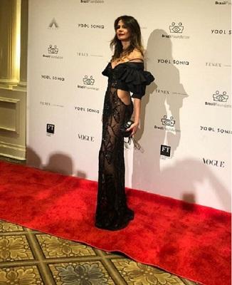 Luciana Gimenez arrasa com look de Vitor Zerbinato no Gala do Brazil Foundation em Nova York