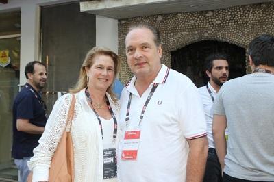 Luiz e Gloria Severiano Ribeiro na abertura do Búzios Cine Festival