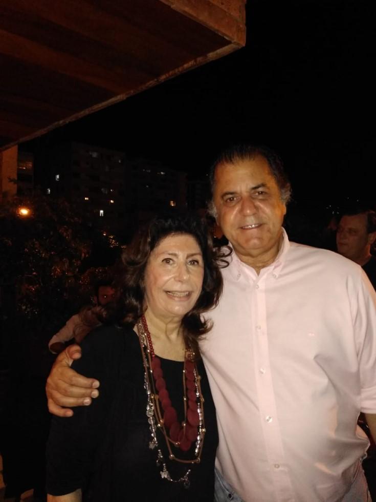 """Omar """"Catito"""" Peres homenageia Anna Maria Thornaghi no restaurante Olivetto em Ipanema"""