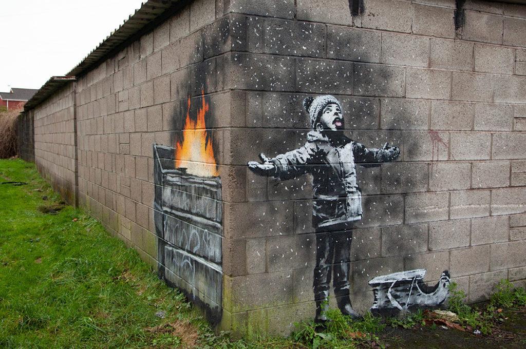 Banksy surpreende e oferece presente de Natal ao povo do País de Gales