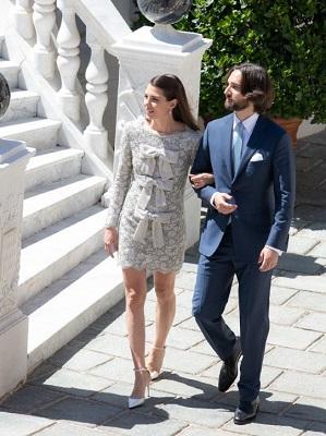 Charlotte Casiraghi e Dimitri Rassan se casam em cerimonia civil no Palácio de Mônaco