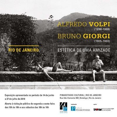 """Pinakotheke Cultural apresenta a exposição """"Estética de uma amizade – Alfredo Volpi (1896-1988) e Bruno Giorgi (1905-1993)"""""""
