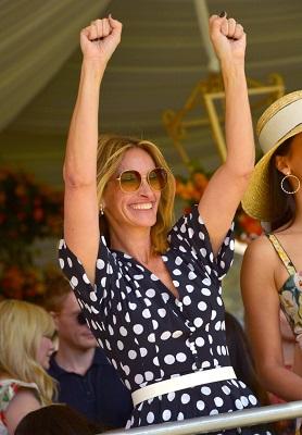 Julia Roberts e muitas celebridades no Veuve Clicquot Polo Classic Los Angeles