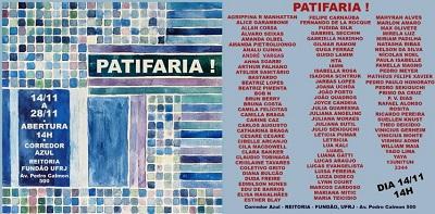 """A exposição """"PATIFARIA"""" é prorrogada até o dia 10 de dezembro na Escola de Belas Artes"""