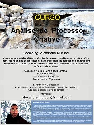 CURSO Análise de Processo Criativo Coaching: Alexandre Murucci