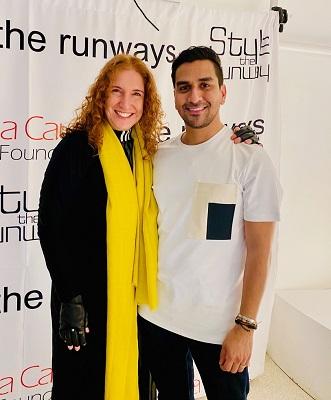 Adriana Lerner arma parceria com o estilista Sebastian Grey cruzam a passarela do NYFW